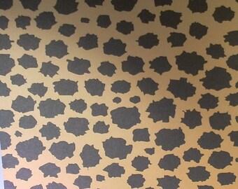 1 sheet of gradient color 23x33cm leopard print paper