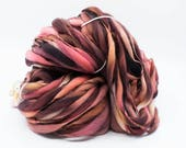 Thick and Thin Yarn - Hand Spun Yarn - Hand Dyed Yarn - Dyed Wool - Hand Painted Yarn – Dyed Wool Yarn – Organic Polwarth (#269)