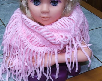 Closed scarf or snood Pink for women or teens