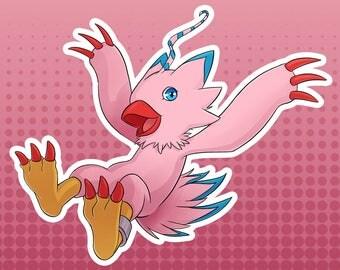 Digimon Digital Monsters - Biyomon FanArt Large Die Cut Vinyl Sticker