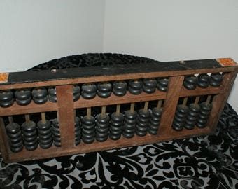 Vintage Wood Abacus-great wall hanger