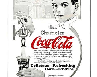 Rare Vintage Coca Cola Ad, 1913