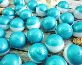 Salty Dog Soap Balls -  Birthday Party Favors - Beach Party Favors - Tropical Party Favors - Round Soap - Glycerin Soap - Soap Party Favors