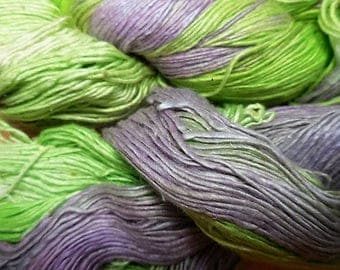 300 Yards,  Silk  Waste Yarn, Countryside Pasture,   Fairly Traded,  from India,  from Nepal