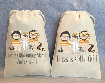 "6- Where the Wild Things are, Where the Wild Things are party, Where the Wild Things are birthday,Where the Wild Things are favor bag,5""x8"""