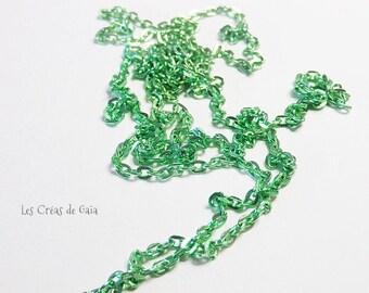 1 x 137cm green greenery metal link chain