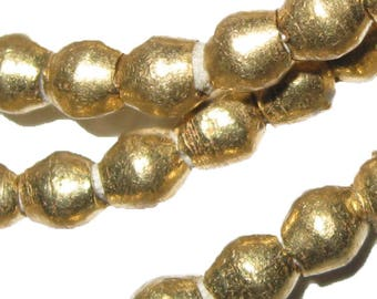 26 Inches of Small Ethiopian Brass Heishi Beads 3 mm