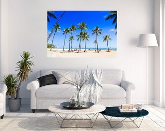 Honolulu Hawaii Beach Palm Paradise