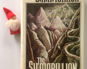 The Silmarillion, First American Edition, HCDJ, Tolkien, Gift, Display, Collection, 1977, Literary Masterpiece, Former Library Possession