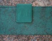 Dark Green Women's Fabric Wallet Purse Organizer Magnetic Closure Cash Wallet