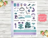 KT03 Peacock Parade - Deco Planner Stickers - Deco Stickers - Decorative Stickers - Erin Condren, Happy Planner and Personal Planners