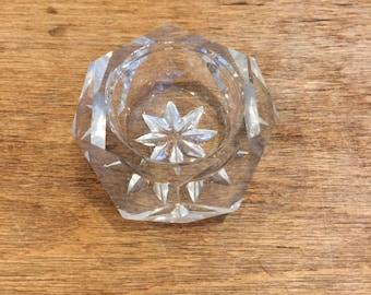 Vintage cut glass salt cellar