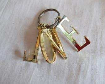 Vintage Brass Love Keychain //11