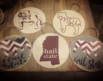 Mississippi and MSU ornaments