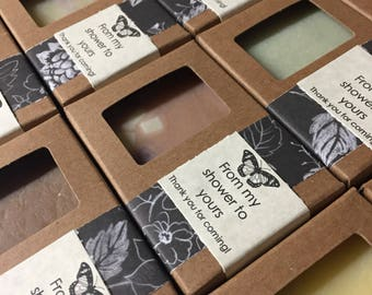 80 Soap Favors - Full Size Bars - Wedding Favors - Baby Shower Favors - Corporate Gifts