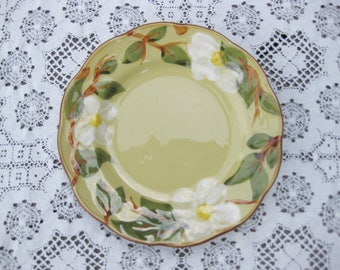 Pottery Bread Plate, Stangl Pottery Plate White Dogwood,  Dessert Plate, Stangl Pottery Bread Plate, Hand Painted Pottery Plate