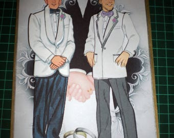 For any groom and groom wedding congratulation card