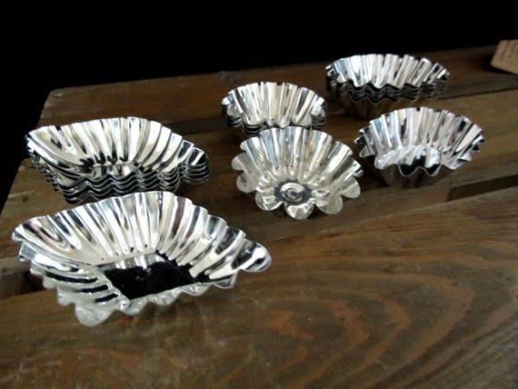 Set of 18 Tart Tins, Swedish Tart Tins, Candy Tins, Never Used, Ships Free