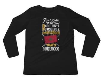 My Country is Morocco Amazing Moroccan Flag Rabat Longsleeeve