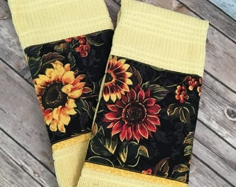 Sunflower kitchen towel set