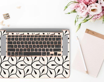 Minimalist Petal and Rose Gold Detailing Inner Keyboard Tray Vinyl Skin for Apple Air & Retina , Macbook Pro 2017 - Platinum Edition