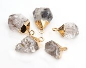 Rough Herkimer Connector, Single Bail Gold Connector, Herkimer Pendant, Gemstone  Connector, Jewelry Making Supply, GemMartUSA (DH-50001)