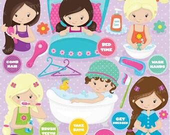 80% OFF SALE Hygiene clipart commercial use, vector graphics, digital clip art, digital images, apple orchard - CL739