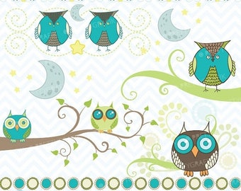 80% OFF SALE Owl clipart commercial use, vector graphics, digital clip art, digital images  - CL440
