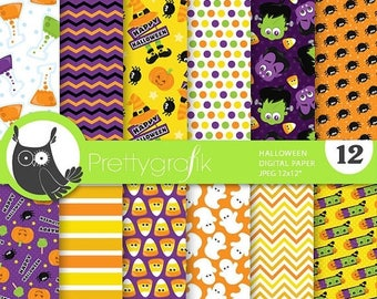 80% OFF SALE Halloween props 2 digital papers, commercial use, scrapbook papers, background  - PS755