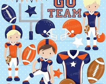 80% OFF SALE American football clipart commercial use, football vector graphics, super bowl digital clip art, digital images - CL723