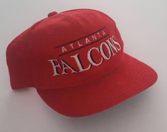 Vintage Atlanta Falcons Corduroy Starter Hat NFL VTG