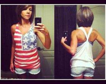 American Flag Tank Top Size SMALL