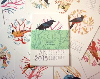2018 Bird Desk Calendar - Monthly Desktop Calendar