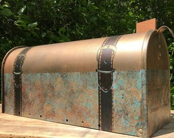 Copper and Bronze Hand painted mailbox