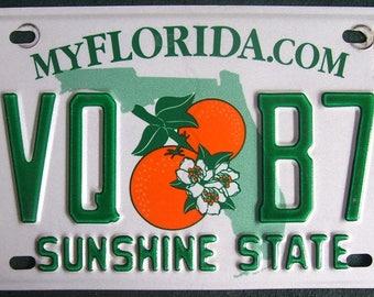 FLORIDA EVQ-B70 American License Number Plate
