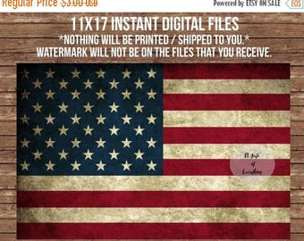 CHRISTMAS in JULY SALE 11x17 Instant Download  Digital Files vintage grunge flag patriotic american usa  4th of july fourth printable Indepe