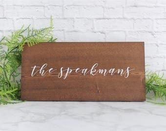 Personalized Wood Sign, Custom Wedding Sign, Wood Wedding Sign, Personalized Name Sign, Wedding Last Name Sign, Wedding Name Sign