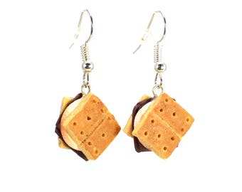 Scented S'more Earrings Food Jewelry