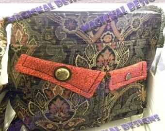 BLACK SPLENDOR - Pockets, Pockets, Pockets, Handbag, inner pockets, outer pockets, zipper closure, cloth, purse, adjustable, strap, tote