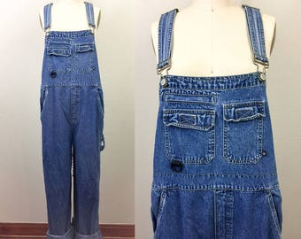 Vintage 90s Blue Denim Overalls No Boundaries XL