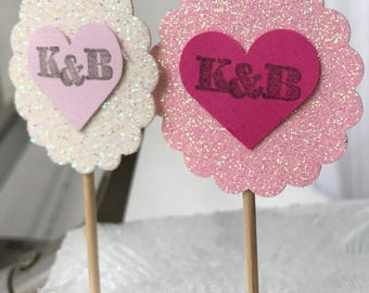 Personalized cupcake toppers in color of your choice 3 dozen
