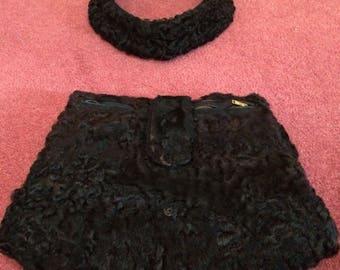Bearskin fur muffler and collar