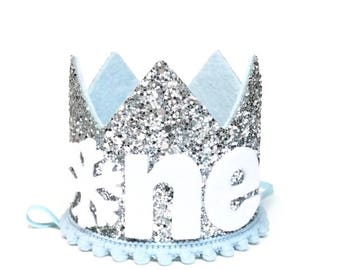 Winter Onederland || Snowflake Crown || First Birthday Crown Boy || Winter ONEderand Birthday || First Birthday Outfit