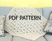 Call The Midwife Afghan, Crochet Blanket Pattern, PDF
