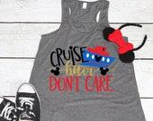 Disney Cruise Shirt | Cruise Hair Don't Care | Disney Shirt | Women's Disney Shirt | Disney Vacation Shirt | Girl's Disney | Disney Tank