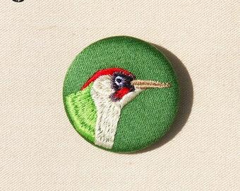 Little green woodpecker brooch