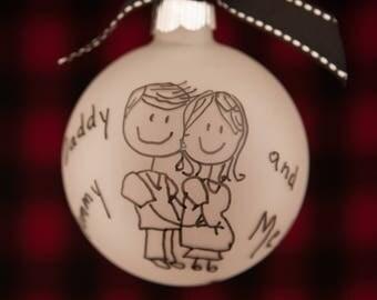 Baby Ornament, Pregnant Ornament, Personalized Ornament, Christmas Ornament, Custom Ornament, Expecting Ornament, Personalize ornament