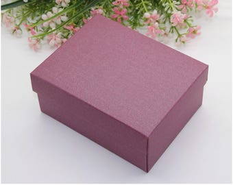 30x Pearl Plum Bomboniere Favour Boxes - Wedding & Party Gift Box - Chocolate Candy Cookie Box - Christmas Gift Box