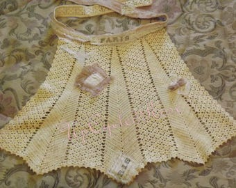 FarmHouse Vintage Apron Shabby Couture Ready to Ship Today Free Shipping in USA