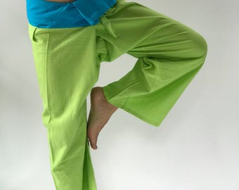 2T0008 Lamon Blue Thai fisherman/Yoga are pants Free-size: Will fit men or woman
